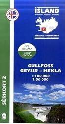 Island Serkort 02 Gullfoss - Geysir - Hekla 1 : 100 000