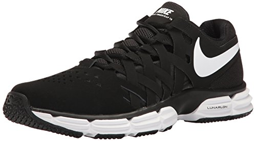 Nike Men's Lunar Fingertrap Trainer Cross White-Black, 9 Regular - Nike Cycling Shoes