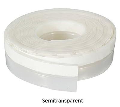35mmX5m Window Silicone Rubber Sealing Sticker Seal Strip 3M Adhesive (transparent)