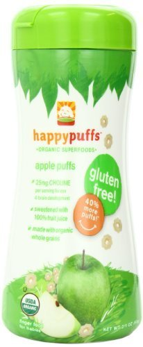Happy Baby Organic Puffs Apple Puffs 2.1-Ounce Container (Pack Of 6)