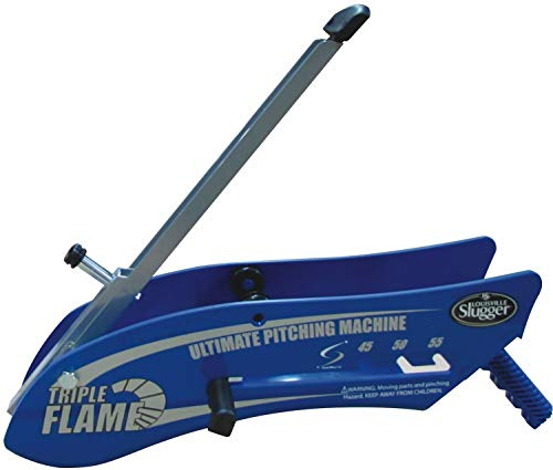 Louisville Slugger Triple Flame Hand Held Pitching Machine (Renewed)