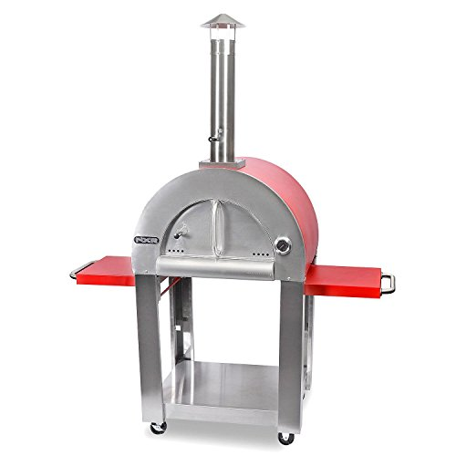 NXR Outdoor Authentic Wood-Fired Pizza Oven w/ Built-In Cart by NXR