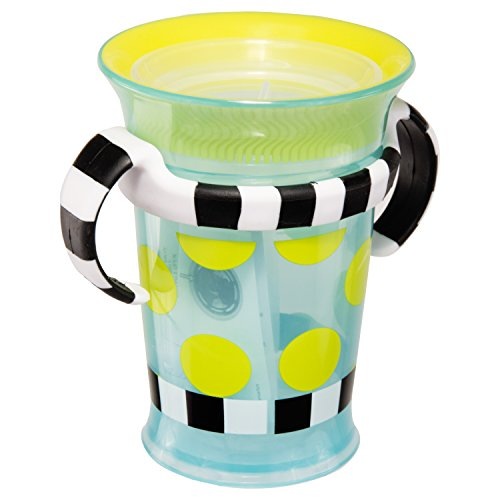 Sassy Spoutless Grow Up Cup with Trainer Handles - 7 Ounces 6+ Months Pediatric Dentist Recommended 360˚ Spoutless Sippy Cup Design BPA-Free