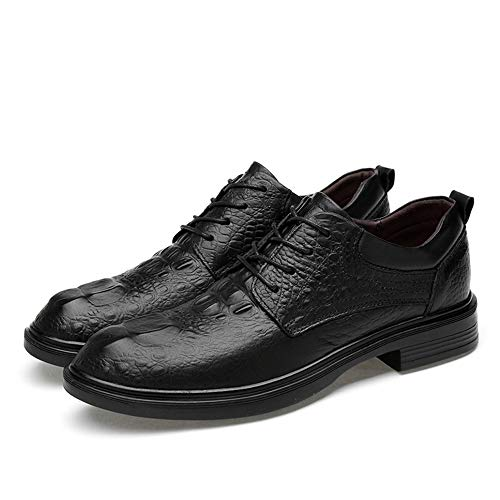 2018 Formali Lace Grandi Casual Low Basse Confortevole Da Up Suede Inside Stringate Oxfords Scarpe Di Black smooth Faux Top Black Coccodrillo Modello Uomo Business Crocodile Conve Fleece Dimensioni 1HZn1rO
