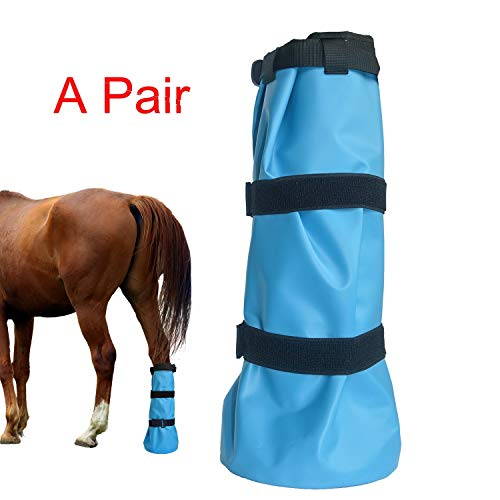 Yeezo A Pair Hoof Soaker Boot Equine Soaking Boot Horse Soak Bag Draft Soaker Sack Horse Foot Wraps Hooves Care Bags Easy Use Icing Treatment Bucket