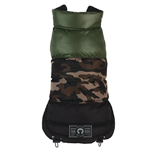 fabdog Colorblock Puffer Dog Coat Camo (22'') by fabdog