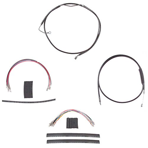 Hill Country Customs Complete Black Cable Brake Line Kit for 22'' Handlebars 2008-2013 Harley-Davidson Touring Models with ABS brakes - HC-CKC11122-BLK by Hill Country Custom Cycles