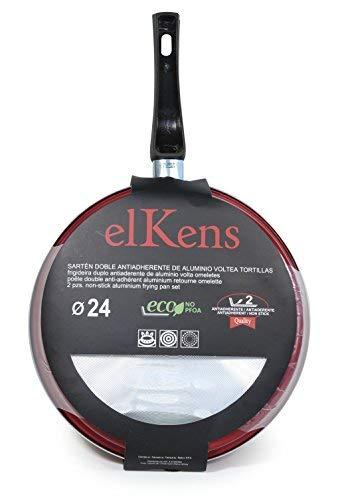 Amazon.com: ELKENS Pancake Pan, Aluminium, Red, Diameter 24 cm ...