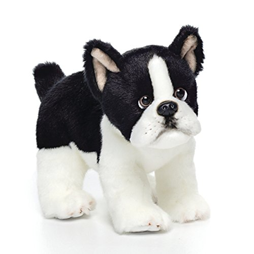 (Nat and Jules Alert Standing Small Boston Terrier Dog Children's Plush Stuffed Animal Toy)