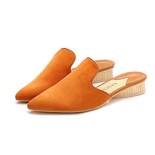 Fankou in autunno e inverno, manualmente nazionale scarpe di vento pigri spessi con scarpe di cotone wild Baotou metà pantofole ,38, caffè di luce