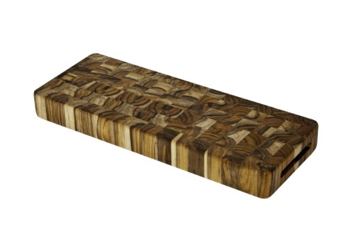 Teak Cutting Board - Rectangle End Grain Serving & Cheese Board (18 x 6 x 2 in.) - By Teakhaus from Teakhaus