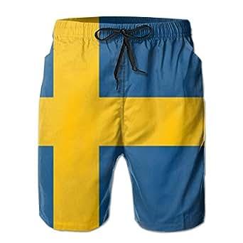 Amazon.com: Flag of Sweden - (54x36)_1054 Men's Shorts