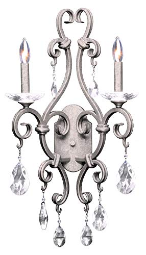 Palladium 2 Light Wall Bracket Pearl Silver ()