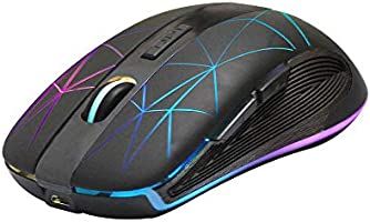 Rii RM200 Wireless Mouse 2.4G Wireless Mouse 5 Buttons Rechargeable Mobile Optical Mouse with USB Nano Receiver,3...