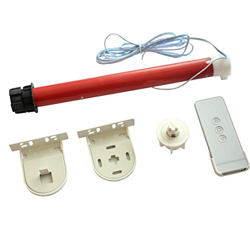 MorningRising 12V DIY Electric Roller Blind / Shade Tubular 25mm Motor Kit & Remote Controller ()