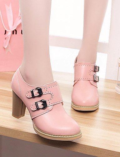Mujer us10 semicuero Zapatos 5 vestido Redonda Eu42 tac¨®n Cn43 Uk8 Eu33 tacones De Punta Zq 5 Plataforma 5 Beige Blanco rosa tacones Fiesta Pink Noche Robusto Uk1 us3 Cn32 5 Y Pink Uk8 6HqvExng