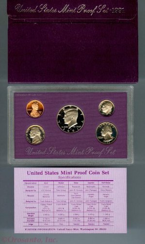 1991 Us Mint Proof (1991 Proof in Original US Mint Packaging Set Uncirculated)