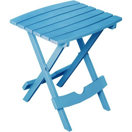 Adams Manufacturing Quik-Fold Side Table Pool Blue