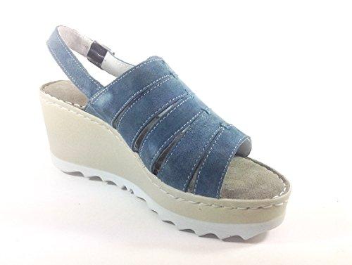BLU Sandalias multicolor JEANS multicolor de mujer Zen vestir 35 Piel para de Pn6qqadwC