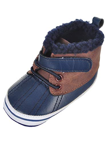 Rising Star Baby Boys' Booties - Blue, 6-9 Months