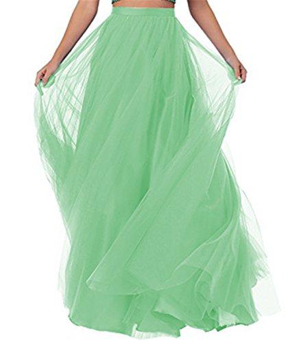 Longue Jupe CoutureBridal Femme Soire Mariage pour Maxi Tulle Vert Haute Jupe Taille RSwqw5F
