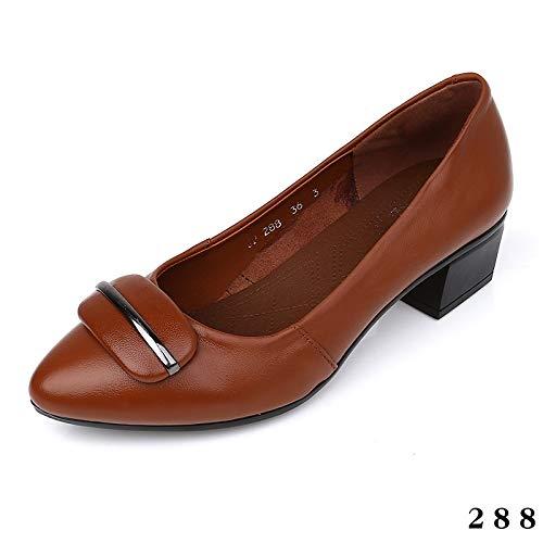 Boca Zapatos de Baja Oficina de de Manera Cuero L Zapatos Zapatos Zapatos la cómodos Acentuados señoras Oficina Zapatos la de FLYRCX Las de de qRxSvv