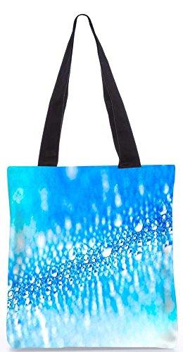 Snoogg Blaue Wassertropfen Tragetasche 13,5 X 15 In Einkaufstasche Dienstprogramm Trage Aus Polyester Leinwand