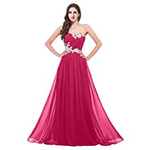 VaniaDress Women Sweetheart Chiffon Long Evening Bridesmaid Dress V020LF