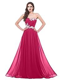 VaniaDress Women Sweetheart Chiffon Long Evening Bridesmaid Dress V020LF