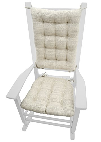 Twilight Patio Chair (Rocking Chair Cushions - Brisbane Mist - Extra-Large - Latex Foam Fill - Reversible (Pearl / Grey))