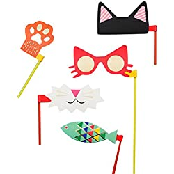 Tinksky Party Photo Booth Props Paper Mask Masquerade Dancing Party Decoration