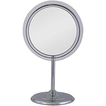 Amazon Com Zadro Adjustable Pedestal Vanity In Chrome