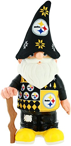 NFL Pittsburgh Steelers Real Ugly Sweater Gnome - Busy Block, Black