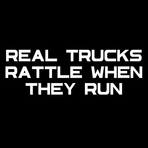 Real Trucks Rattle Vinyl Decal Sticker | Cars Trucks Vans Walls Laptops Cups | White | 7.5 X 2.5 Inch | KCD1778