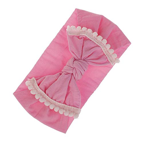 NUWFOR 1Pc Baby Toddler Infant Bowknot Headband Stretch Hairband Headwear Pink