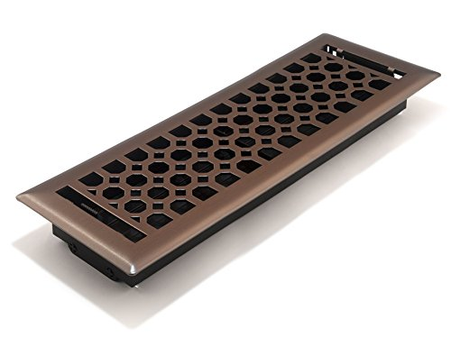 Accord AMFRLRBCH414 Charlotte Floor Register, 4-Inch x 14-Inch(Duct Opening Measurements), Light Oil-Rubbed Bronze ()