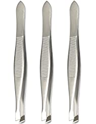 Luxxi (3 Pack) Slant Tweezers - Precision Stainless...