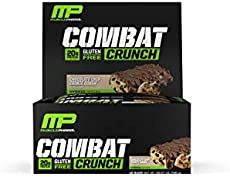 MusclePharm Combat Crunch Protein Bar Multi Layered Baked Gluten Free Bars 20 G Low Sugar Carb Chocolate Chip Cookie
