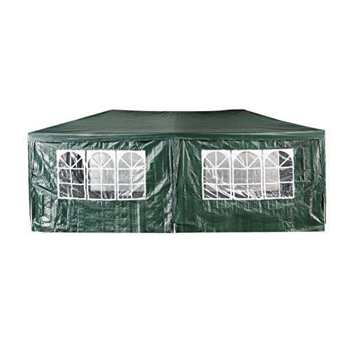 Green Garden 10 x 20 Feet Outdoor Patio Party Canopy Tent Wedding Outdoor Tent Heavy duty Gazebo Pavilion For Waterproof 4 Window SideWalls