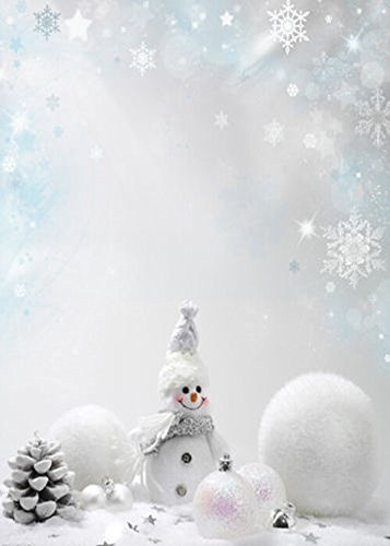 DODOING 5X7ft Vinyl Studio Photography Photo Background, Christmas Snowman Snowflake, Computer-printed Backdrop Studio Props - Frozen Photography Background