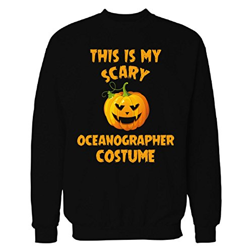 Oceanographer Costume (This Is My Scary Oceanographer Costume Halloween Gift - Sweatshirt Black M)