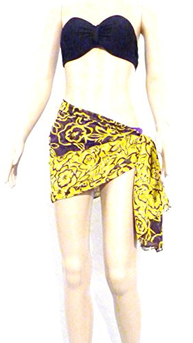 ThaiGift - Camisola - para mujer Brown Flowers