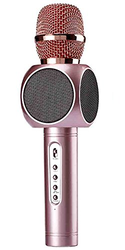 UPC 611553893324, ESHISHANG Multi Magic Karaoke player Portable Wireless Bluetooth Microphone with Mic Speaker Condenser Fashion Home Mini Karaoke Player KTV Singing Record for Apple Samsung iPhone Smart Phone (Rose)