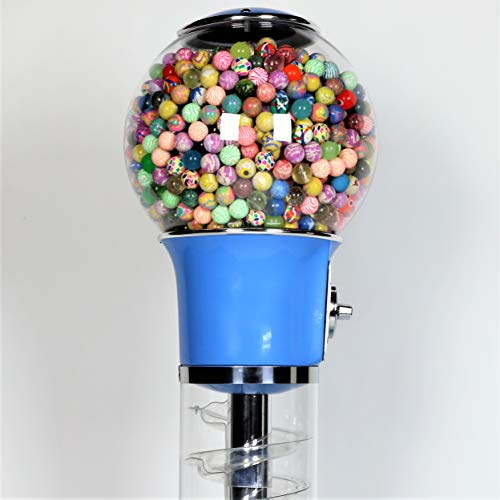 Wiz-Kid Wizard Spiral Gumball Vending Machine Height 4' - $0.25 - (Blue) by Global Gumball (Image #6)