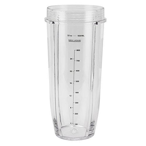 Replacement 32oz Cup for 1000W Nutri Ninja Blender Auto iQ 32 Ounce Cup/ninja pro blender cups BL450/BL455/BL456/BL480/BL490/BL640/BL680/intelli sense ct682sp cup/ninja intelli-sense blender cup