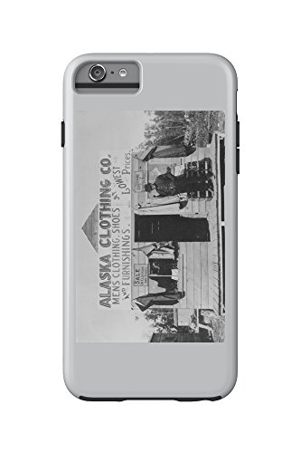 Man in Front of Alaska Clothing Co. in Anchorage Photograph (iPhone 6 Plus Cell Phone Case Cell Phone Case, - Anchorage Mens Clothing