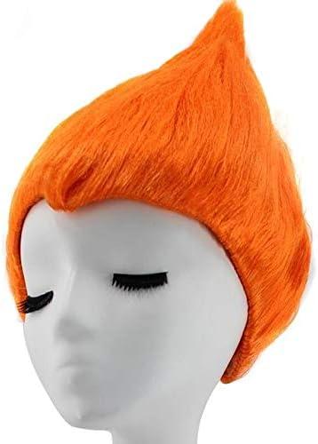 Gorra de pelo + Troll Poppy Dress Disfraz de naranja Peluca de ...