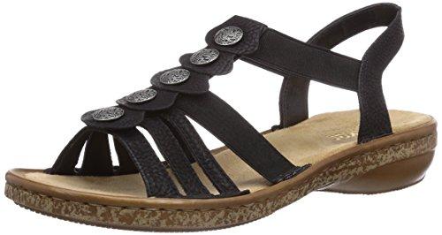 3826000 Rieker para Schwarz Negro Mujer Zapatos aqq1dA