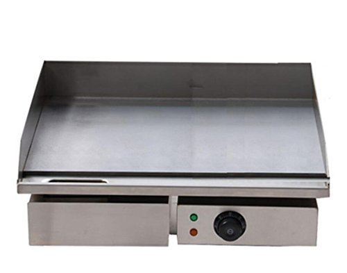 3KW 55CM 21.6'' Electric Griddle Grill Hot Plate Stainless Steel Commercial BBQ Grill (220V) by JIAWANSHUN