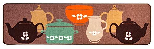 Bekith Küche Teppich Küchenläufer rutschfest 50*180cm Küchenteppich waschbar